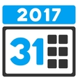 2017 Month Flat Icon vector image vector image
