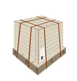 A Shipping Box with Steel Strapping on Pallet vector image vector image