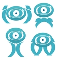 Abstract alien characters vector image vector image