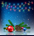 abstract background with christmas lights vector image