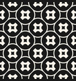abstract monochrome crosses seamless pattern vector image vector image