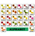 Alphabet english fruit and vegetable berry