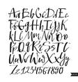 alphabet lettersblack handwritten font drawn vector image vector image