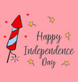 art greeting card for independence day vector image vector image