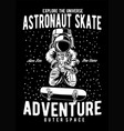astronaut skate vector image vector image
