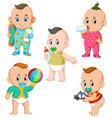 babys activities in different posing vector image