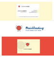 beautiful spider logo and business card vertical vector image