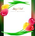 beautiful vertical rectangular greating poster vector image vector image