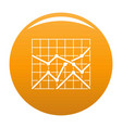 best chart icon orange vector image vector image