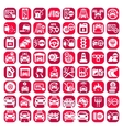 big color auto icons set vector image vector image
