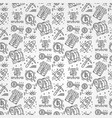 bitcoin pattern seamless isolated vector image vector image
