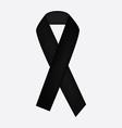 Black ribbon icon vector image vector image