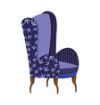 blue chair furniture comfort isolated icon vector image