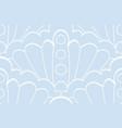 blue seashell lace vector image