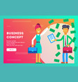 business concept businesswoman vector image