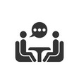 business consulting icon in flat style two people vector image