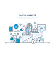 capital markets trading banking e-commerce vector image vector image