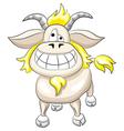 cartoon funny goat vector image vector image