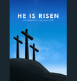 christian easter scene saviour cross on dramatic vector image