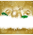 christmas background with baubles and copy space vector image vector image