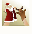 Christmas puppet show vector image vector image