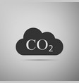 co2 emissions in cloud icon on grey background vector image