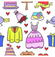 collection stock of wedding element style design vector image vector image