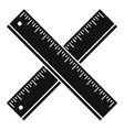 crossed wood ruler icon simple style vector image vector image