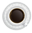 Cup of coffee on saucer vector image