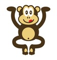 cute monkey drawing vector image