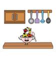 delicious tasty fruits cartoon vector image vector image