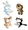dog cat rabbit bear vector image vector image