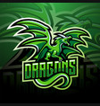dragon esport mascot logo design vector image