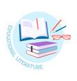educational literature concept vector image