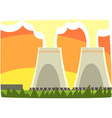 energy generation power station nuclear energy vector image
