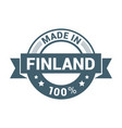 finland stamp design vector image