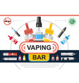 flat vaping shop concept vector image vector image