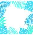 floral paradise tropic frame vector image vector image
