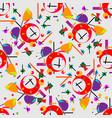 geometric of alarm clock cubism vector image
