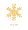 golden lace roses christmas snowflake silhouette vector image vector image