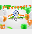 green orange balloons confetti concept design vector image