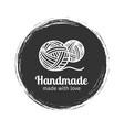 handmade line vintage logo vector image