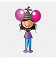 happy children on party design vector image vector image