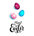 happy easter holiday eggs vector image vector image