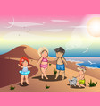 happy family on summer vacation vector image vector image