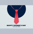 happy fathers day red tie background vector image vector image