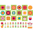 happy flower vector image vector image