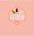 ice cream logo or label vector image vector image