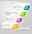 infographics elements layout 4 steps for business vector image vector image
