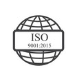 iso icon vector image vector image